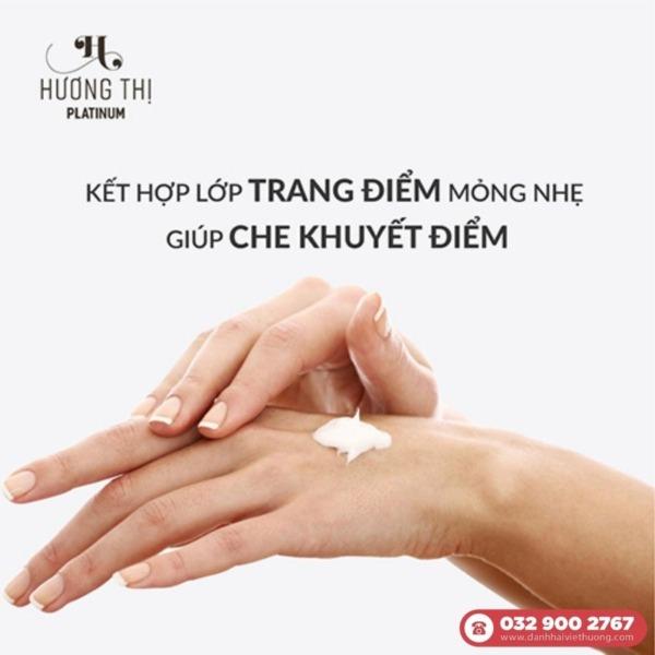 Công dụng của Kem chống nắng trang điểm Hương Thị Platinum