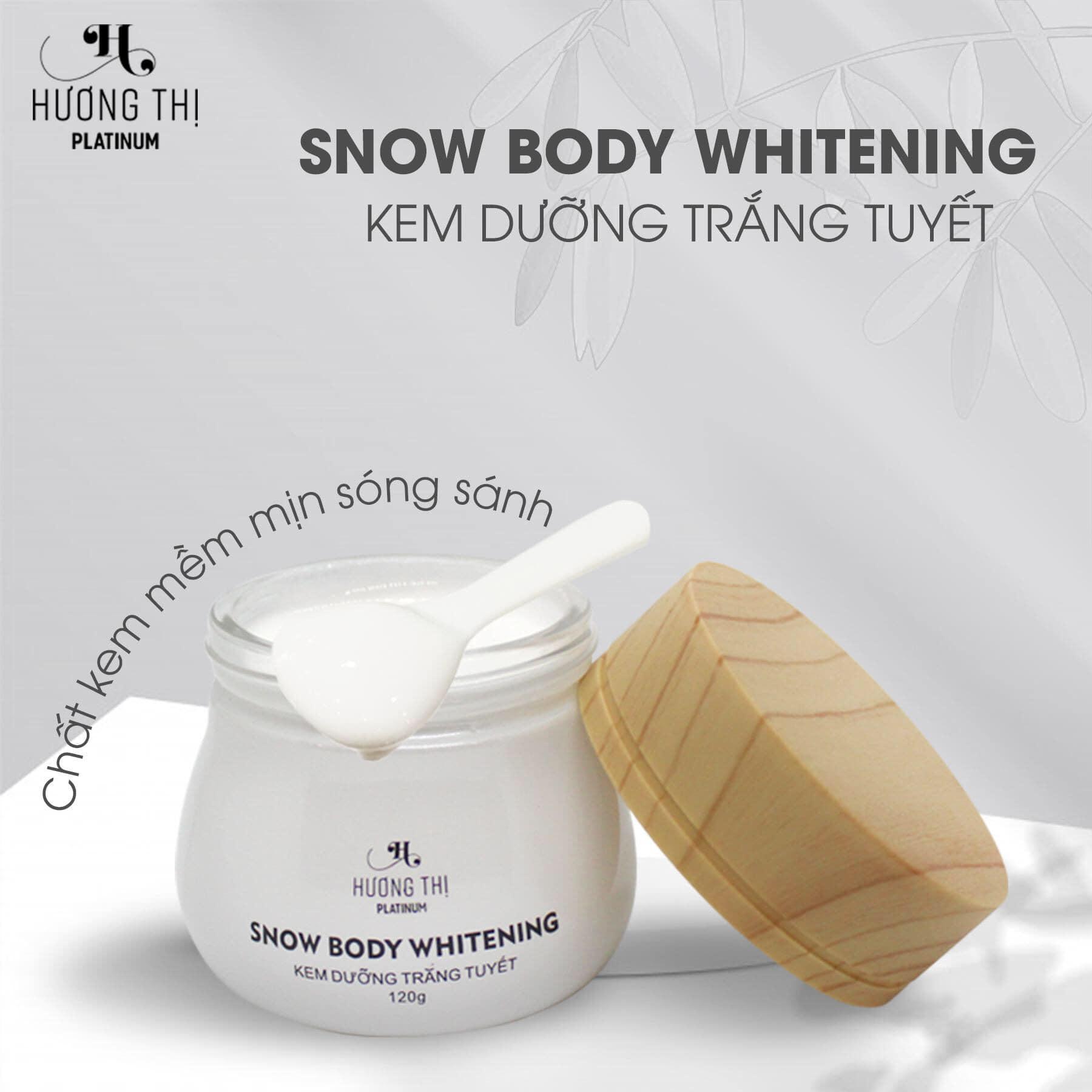 Kem dưỡng trắng tuyết Hương Thị Snow Body Whitening 120g