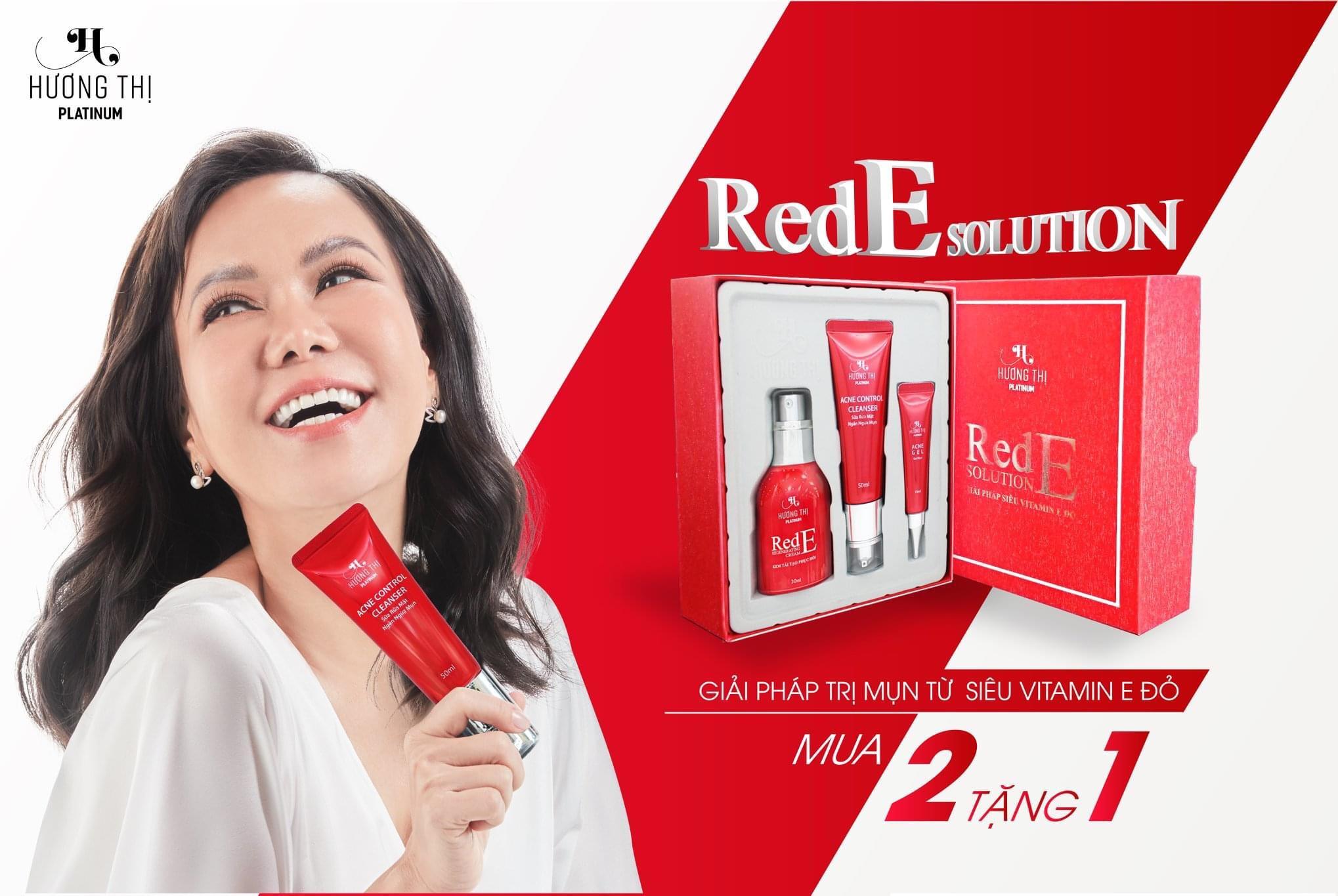 Bộ trị mụn Red E Hương Thị có tốt không?