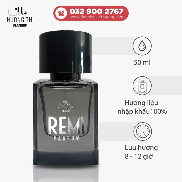Nước hoa nam Remi cao cấp 50ml lưu hương 8-12h - Hương Thị Platinum 3