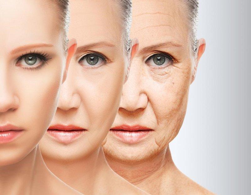 Làn da bắt đầu chảy xệ ở những tuổi 50